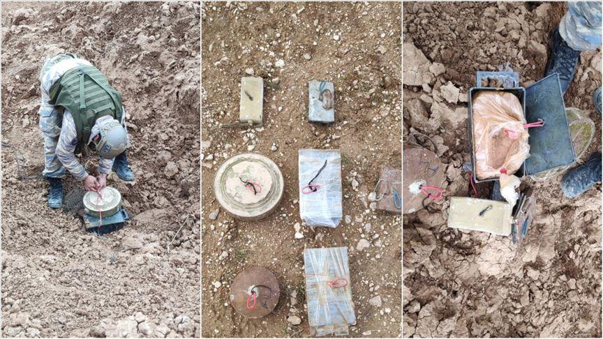 Barış Pınarı Harekatı bölgesinde teröristlerce kullanılan patlayıcılar imha edildi