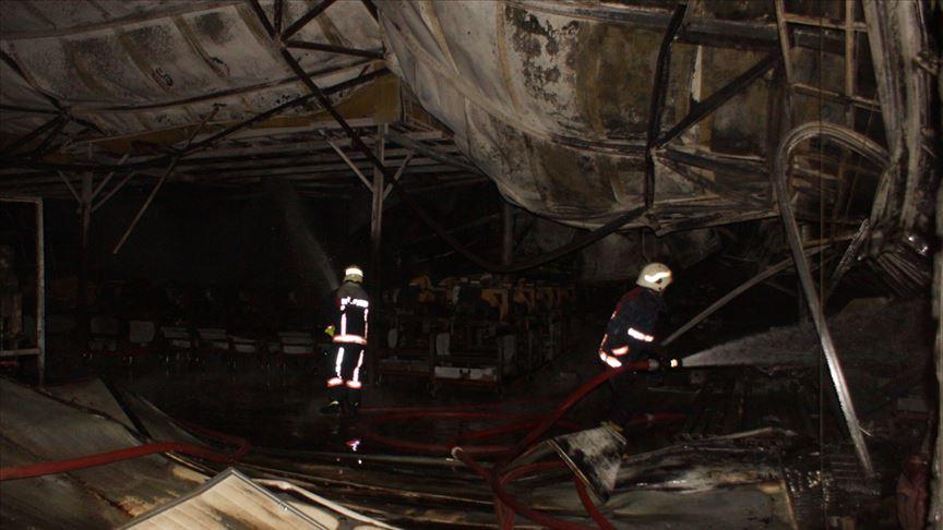 Ankara Akyurt'ta fabrikada çıkan yangın söndürüldü!