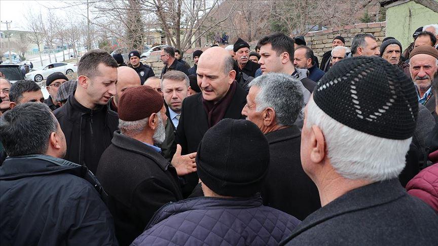 Bakan Soylu Elazığ'da depremzedelerle buluştu!