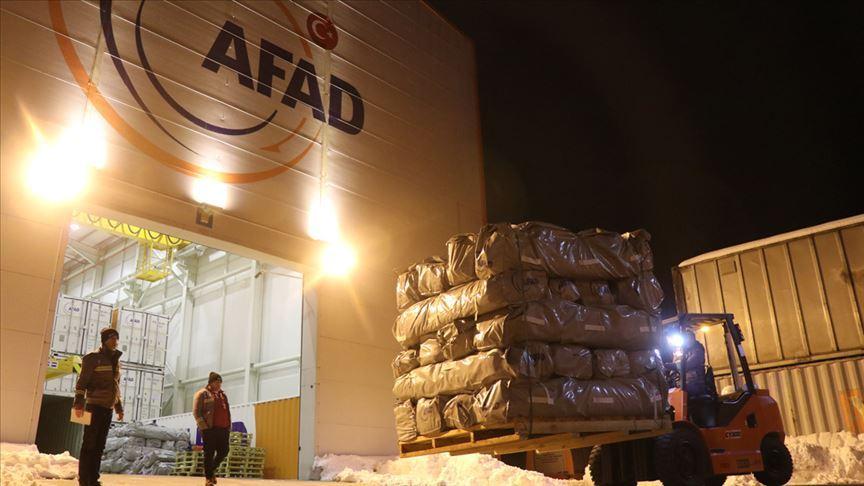 AFAD: Elazığ ve Malatya valiliklerine 65 milyon lira acil yardım ödeneği gönderildi