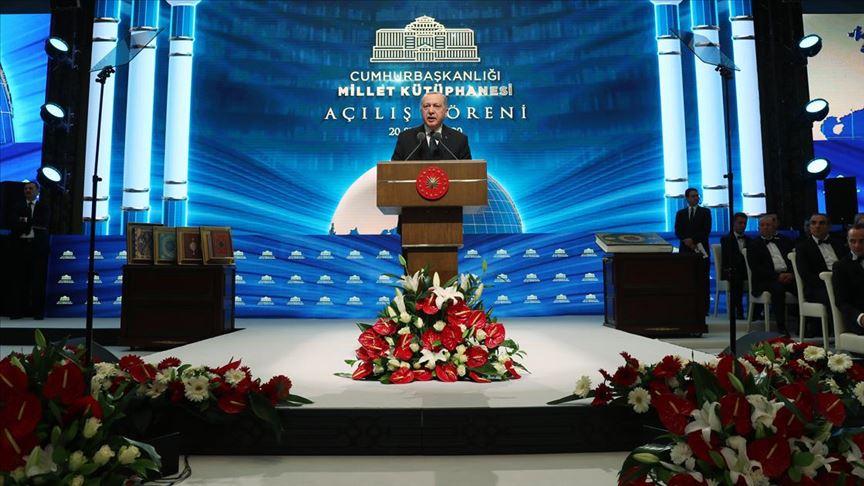 Erdoğan'dan 'Cumhurbaşkanlığı Millet Kütüphanesi' paylaşımı