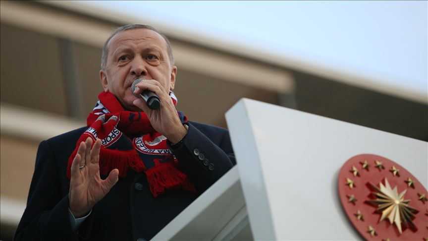 Cumhurbaşkanı Erdoğan: PKK'lı canilerin cirit attığı bölgelerde şimdi huzur ve barış var