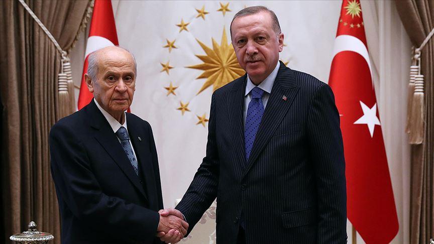 Cumhurbaşkanı Erdoğan ile MHP Lideri Bahçeli görüştü