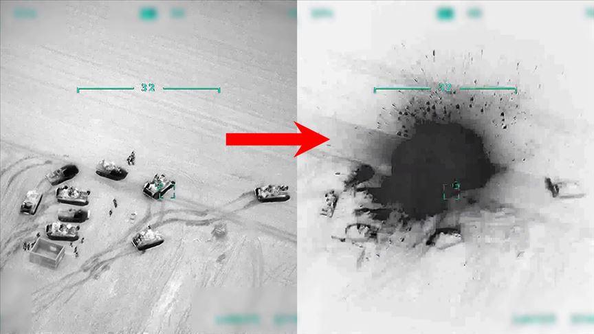 Türkiye Suriye'de rejime ait unsurları gece boyunca vurdu!