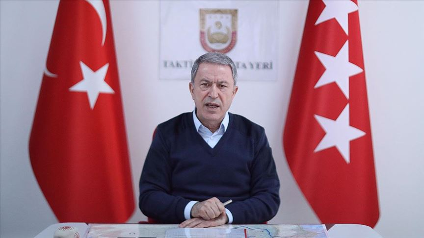 Akar: Bahar Kalkanı Harekatı'nda 2557 rejim unsuru etkisiz hale getirildi