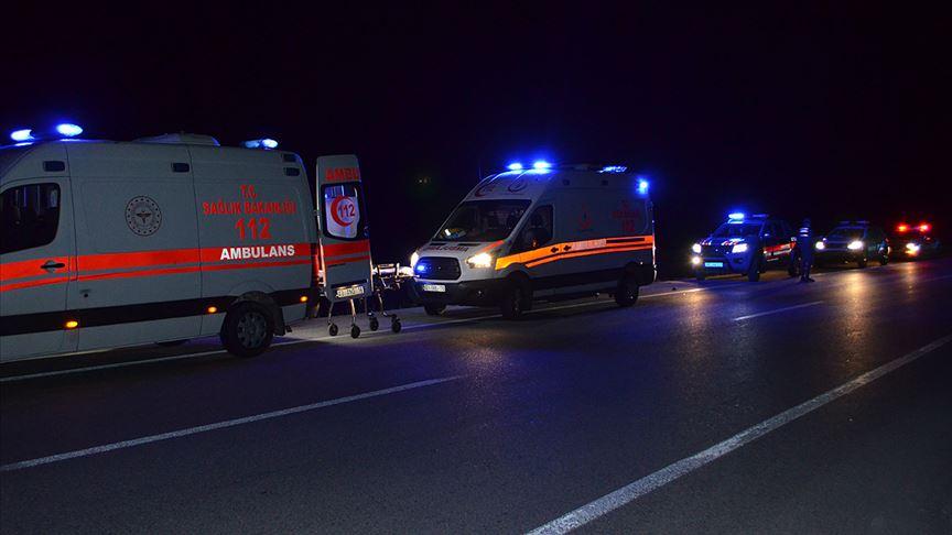 Konya'da sığınmacıları taşıyan minibüs devrildi: 1 ölü, 13 yaralı