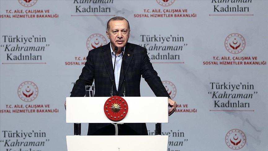 Erdoğan: Kadını meta alarak gören hiçbir toplumun geleceği aydınlık olamaz