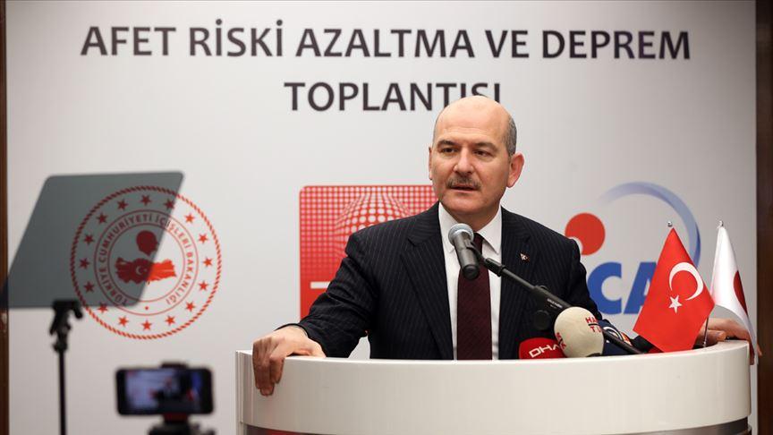 İçişleri Bakanı Soylu: Doğal afetleri üç ana başlıkta toparlamaya çalışıyoruz