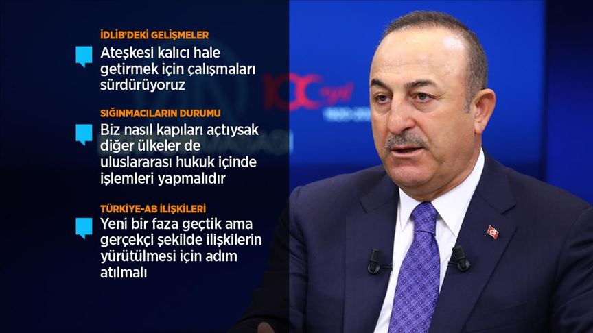 Çavuşoğlu: Rejim ateşkese rağmen ilerlemeye çalışırsa bugüne kadar askerimiz ne yaptıysa onu yaparız