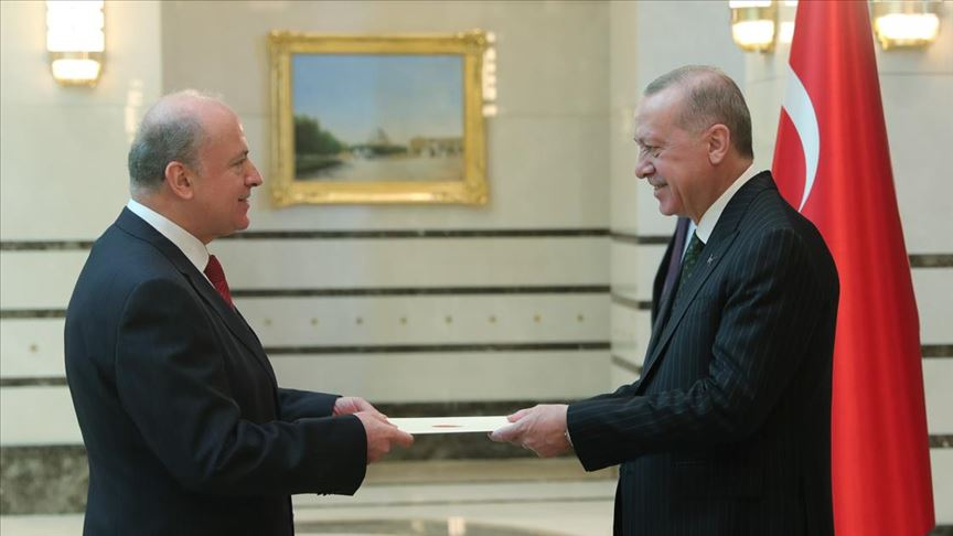 Arnavutluk Büyükelçisi Ribo, Erdoğan'a güven mektubu sundu