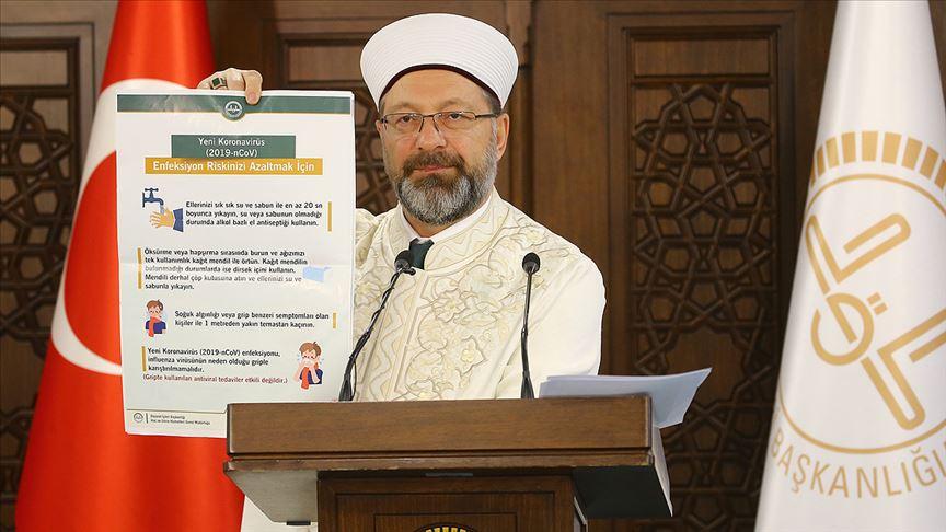 Diyanet İşleri Başkanı Erbaş: Kur'an kurslarımız iki hafta süreyle tatil edilmiştir