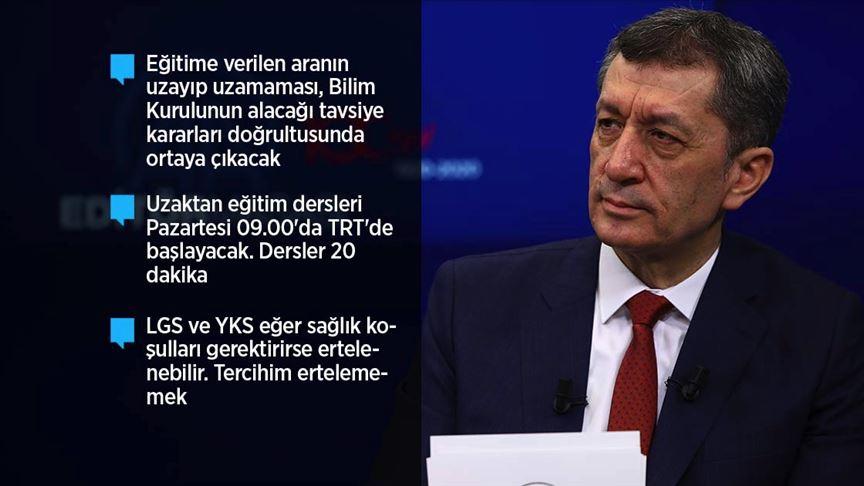Milli Eğitim Bakanı Selçuk uzaktan eğitimin detaylarını açıkladı!