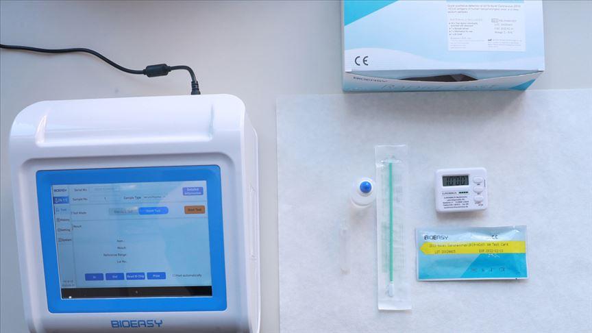 15 dakikada sonuç alınabilen koronavirüs hızlı tanı kitinin tanıtımı yapıldı