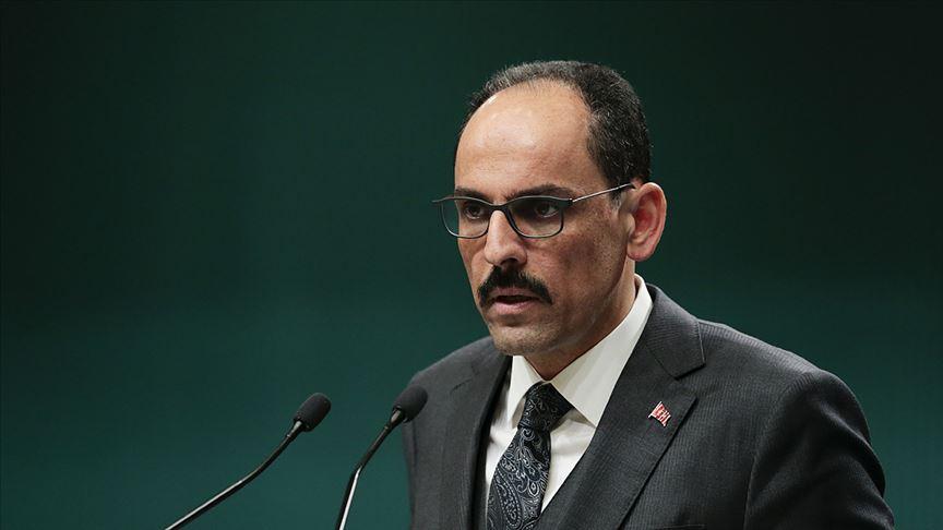 Cumhurbaşkanlığı Sözcüsü Kalın'dan 'evde kal' uyarısı