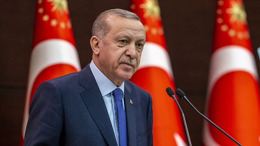 Cumhurbaşkanı Erdoğan'dan koronavirüsle mücadele paylaşımı