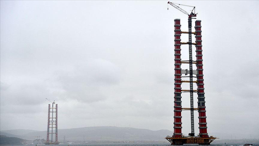 'Simgelerin köprüsü'nde kule yüksekliği 230 metreye ulaştı!