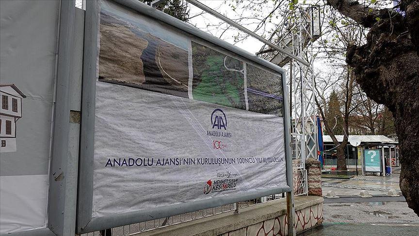 AA'nın 100 yaşı Kırklareli'nde afişlerle kutlandı