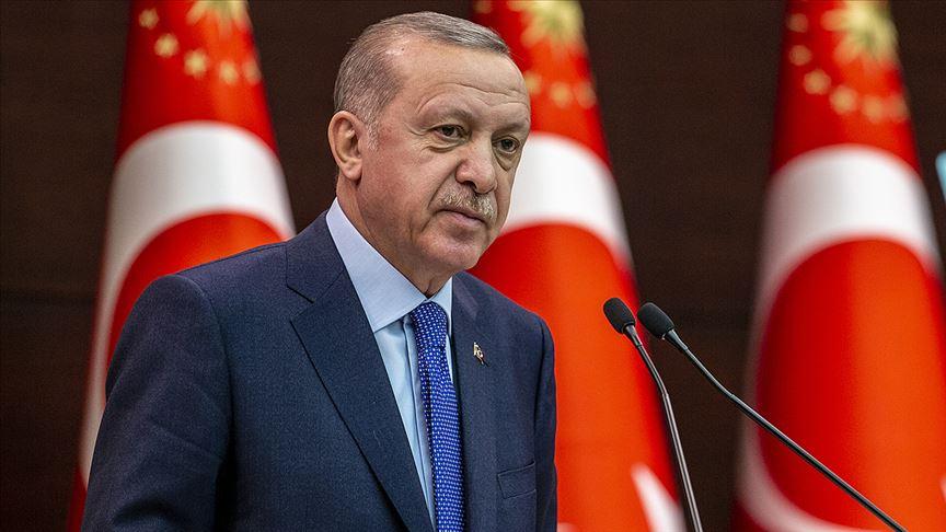 Cumhurbaşkanı Erdoğan'dan Anadolu Ajansı'na kutlama mesajı