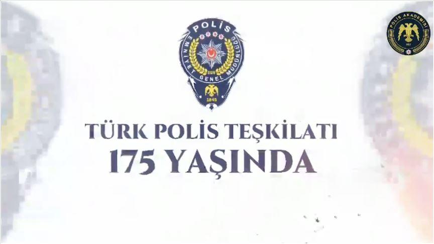 Türk Polis Teşkilatı'nın kuruluş yıl dönümüne video kliple kutlama