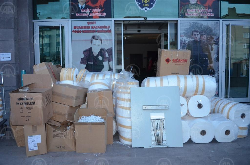 Yozgat'ta kaçak üretilen 12 bin maske ele geçirildi!