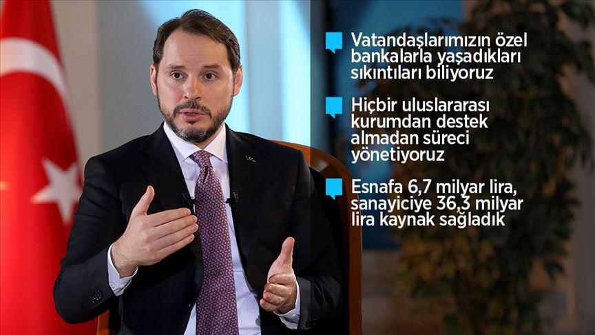 Hazine ve Maliye Bakanı Albayrak'tan özel bankalara ilişkin değerlendirme