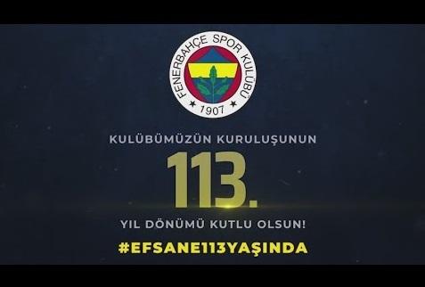 Fenerbahçe Kulübü 113 YAŞINDA!