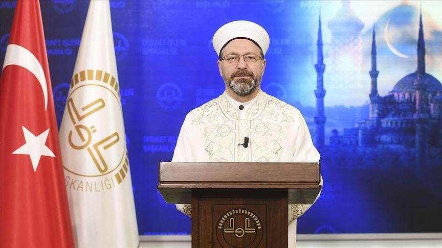 Diyanet İşleri Başkanı Erbaş'tan 'bayram namazı' açıklaması
