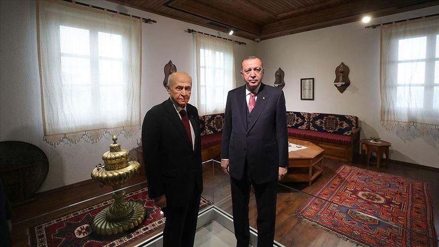 Cumhurbaşkanı Erdoğan ve Bahçeli Demokrasi ve Özgürlükler Adası'nı gezdi