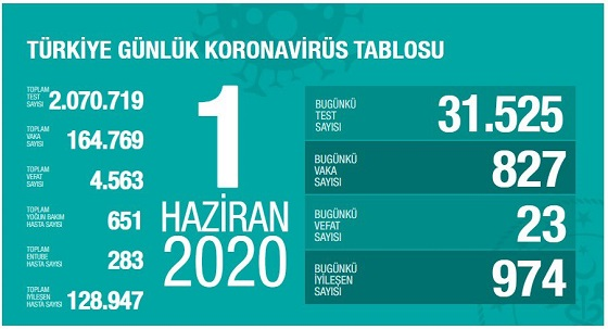 Türkiye'de Kovid-19'dan iyileşen hasta sayısı 128 bin 947 oldu!