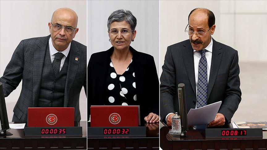 CHP'li Enis Berberoğlu ile HDP'li Güven ve Farisoğulları'nın milletvekilliği düşürüldü