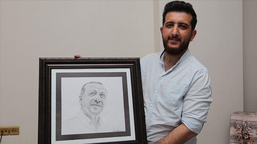 Hakkarili Demirel'in Cumhurbaşkanı Erdoğan sevgisi