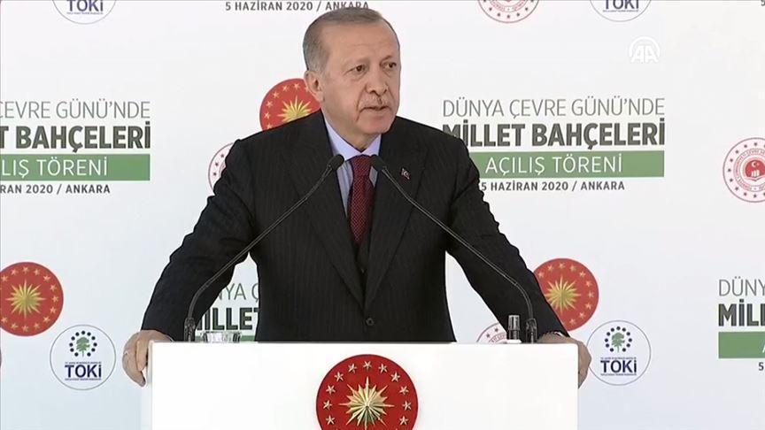 Erdoğan: 81 ilimize 81 milyon metrekare millet bahçesi kazandırma hedefimize yaklaşıyoruz