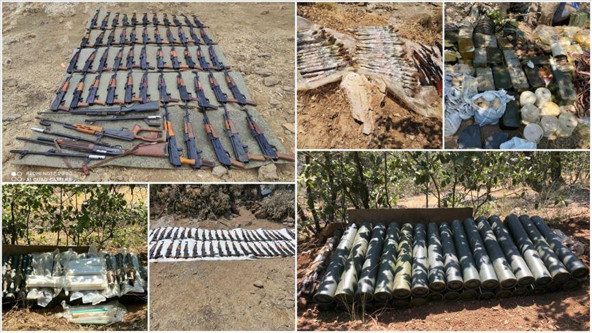 Pençe-Kaplan Operasyonu'nda PKK'ya ait çok miktarda mühimmat ele geçirildi
