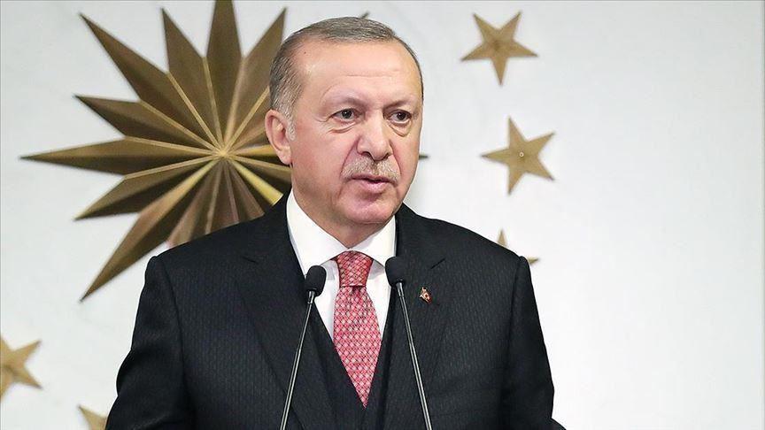 Erdoğan, Nuh Peygamber Üs Bölgesi'ndeki askerlerin bayramını kutladı