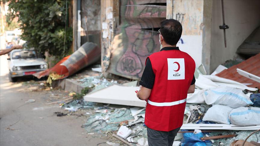 Türk Kızılay'dan Beyrut için 'Uzat elini' çağrısıyla yardım kampanyası