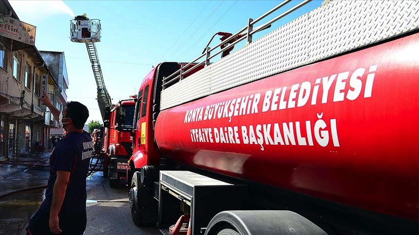 Konya'da bir iş yerinde patlama meydana geldi