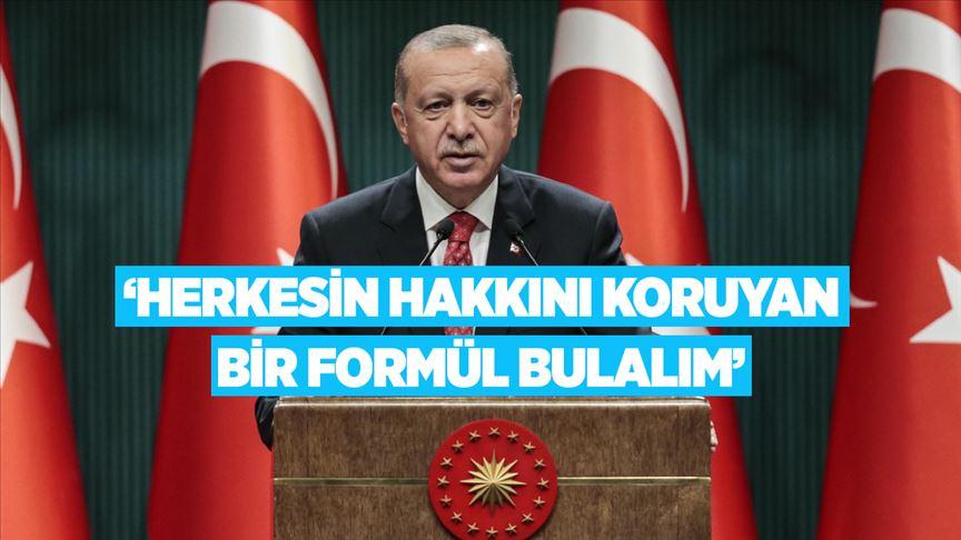 Cumhurbaşkanı Erdoğan: Adalar üzerinden bizi sahillerimize hapsetme girişimine rıza göstermeyeceğiz