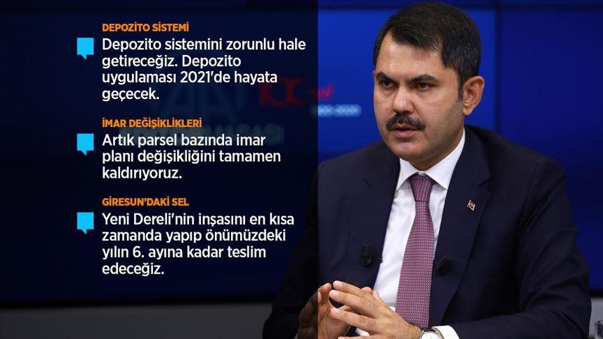 Çevre ve Şehircilik Bakanı Kurum'dan önemli açıklamalar