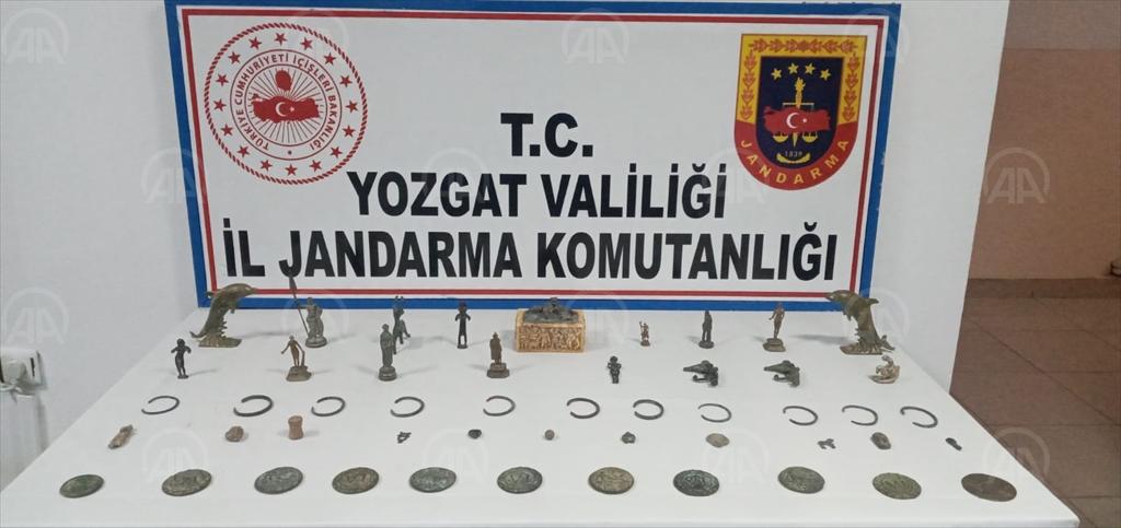 Yozgat'ta tarihi eser operasyonunda yakalanan 4 kişi tutuklandı