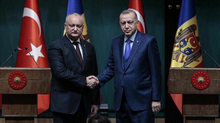 Cumhurbaşkanı Erdoğan, Moldova Cumhurbaşkanı Dodon ile görüştü!