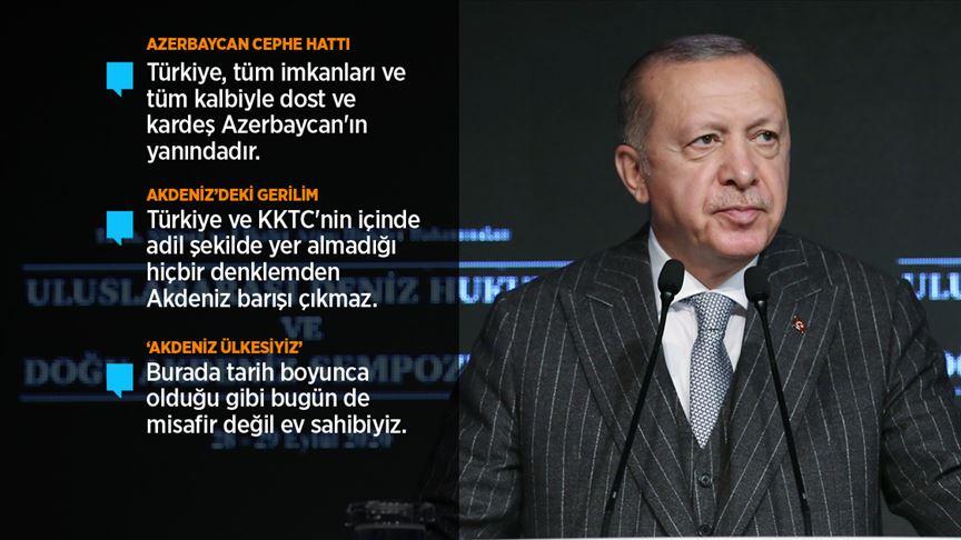 Erdoğan: Ermenistan işgal ettiği Azerbaycan topraklarını derhal terk etmelidir