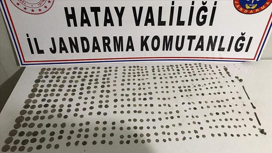 Hatay'da motosiklette 516 sikke ele geçirildi!
