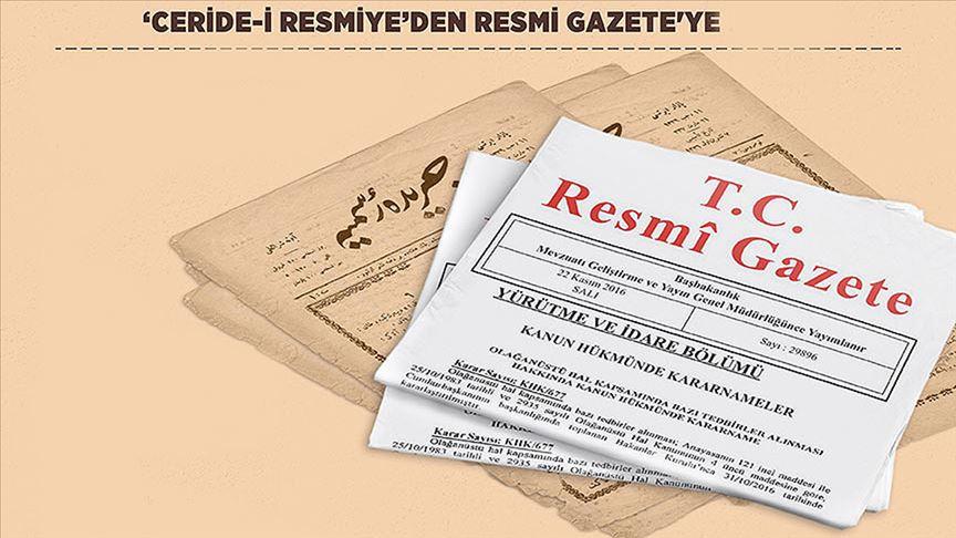 'Resmi Gazete' 100 yaşında!