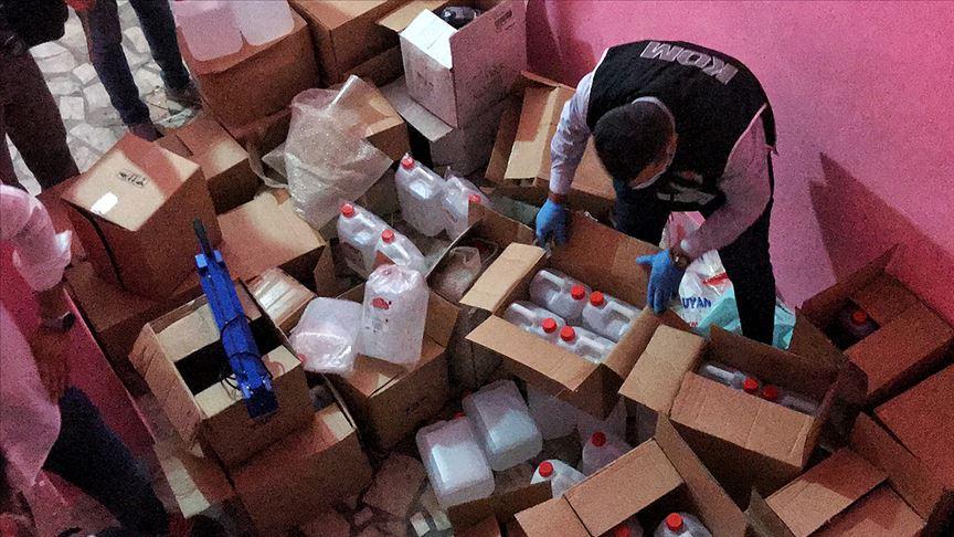 Mersin'de sahte içkiye karşı 'YILDIRIM' operasyonu