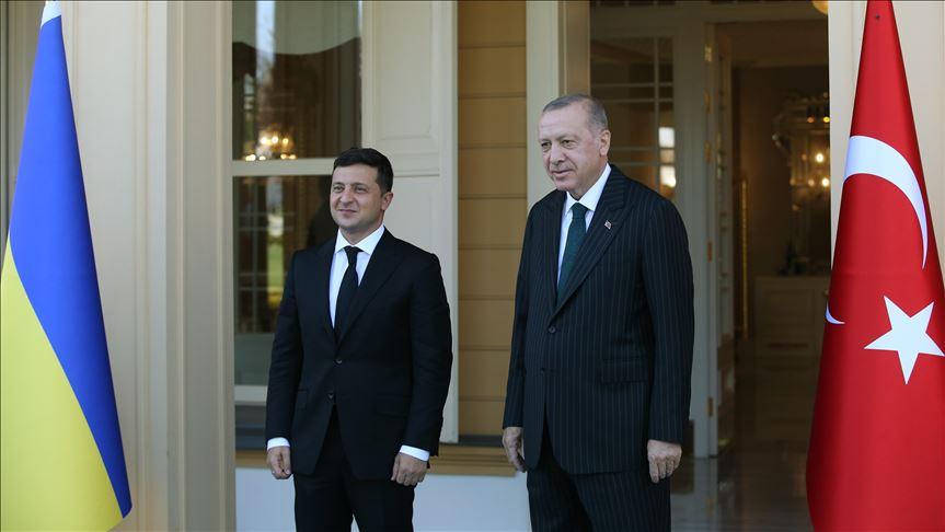 Cumhurbaşkanı Erdoğan ve Ukrayna Devlet Başkanı Zelenskiy görüşmesi
