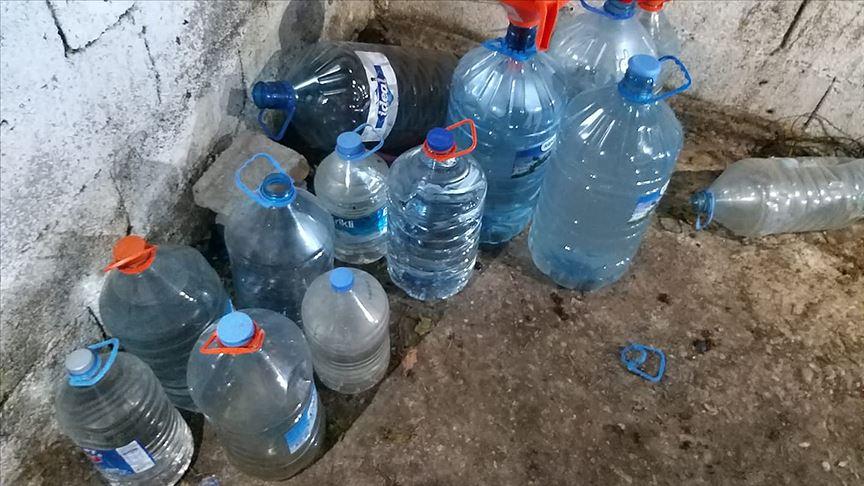 Adana'da 1055 litre sahte içki ele geçirildi!