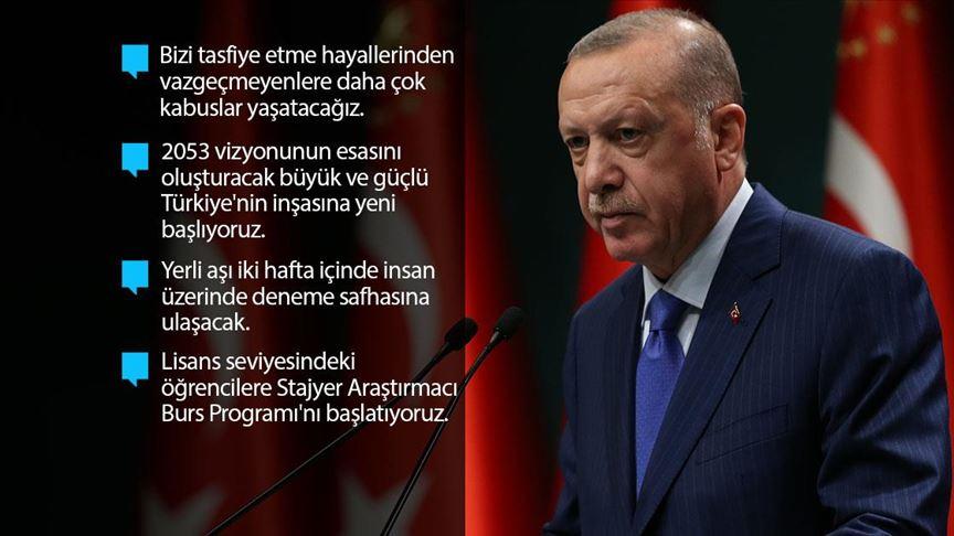 Erdoğan: 5'inci ve 9'uncu sınıflarda yüz yüze eğitimi 2 Kasım'da başlatıyoruz