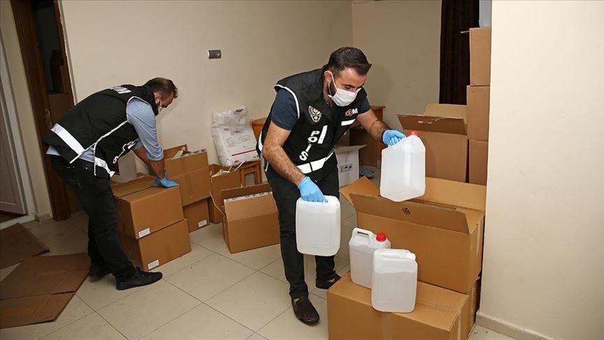 Adana'da 1305 litre sahte etil alkol ele geçirildi!