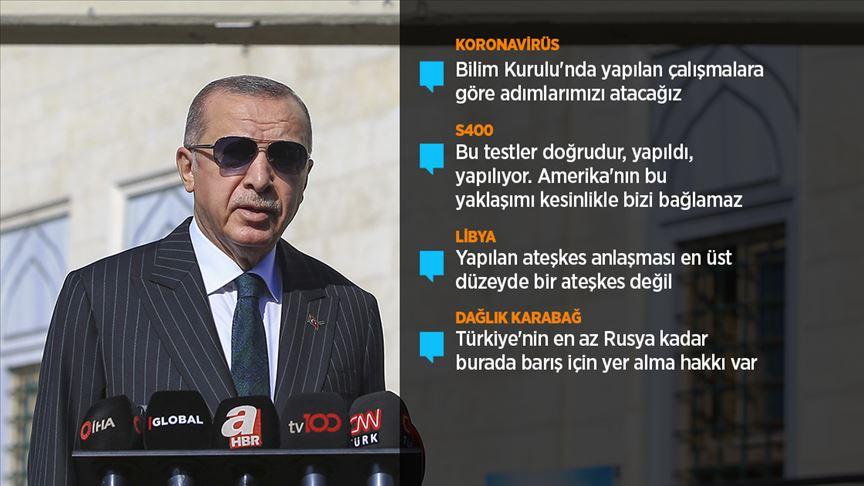 Cumhurbaşkanı Erdoğan: (Kovid-19) Toplu mekanlardan ciddi manada kaçınmak gerekiyor