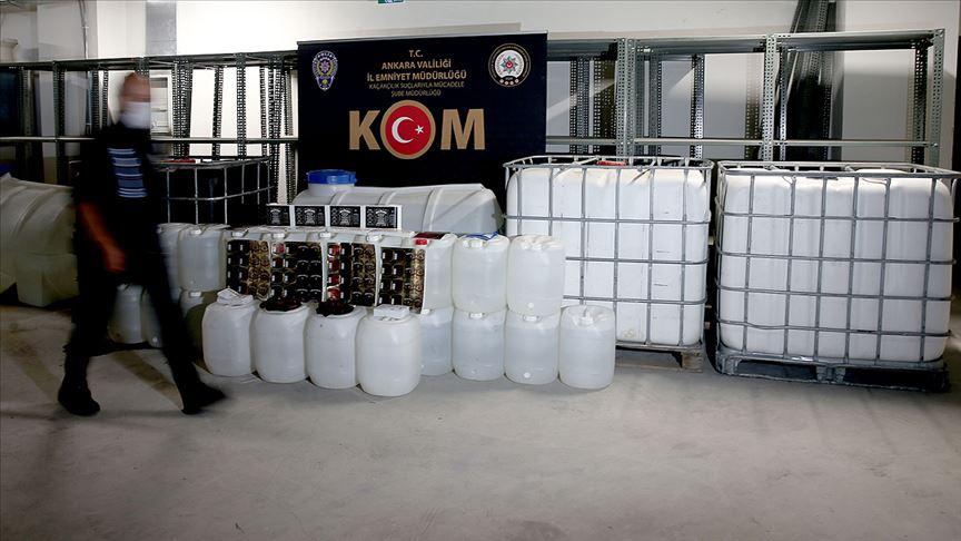 İçişleri Bakanlığı: Bu yıl 1 milyon 20 bin 819 litre kaçak içki ele geçirildi